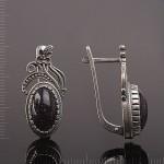 Авантюрин. Серебряные серьги