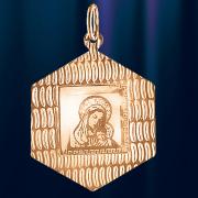 Икона Божией Матери из  золота Грань