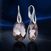 Серебряные серьги с кристаллами Swarovski®