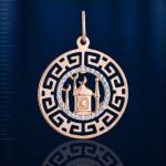 Золотая подвеска Мечеть