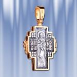 Крест Мощевик Серебряный Позолоченый