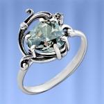 Серебряное кольцо Альфа. Фианиты