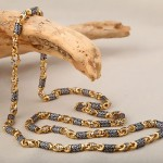 Серебряная цепочка позолоченая литая