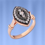 Кольцо серебряное. Фианиты