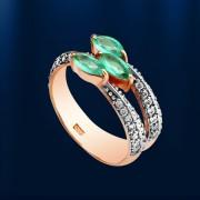 Золотое кольцо. Изумруды & Бриллианты