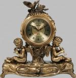Бронзовая статуэтка с часами Ангелы