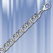 Панцирная двойная цепь серебряная