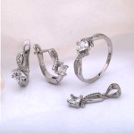 Гарнитур серебряный. Фианиты