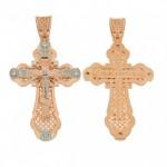 Крест нательный из золота с распятием
