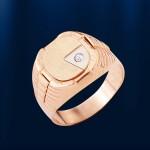 Золотой перстень мужской. Русское золото