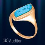 Кольцо из золота 585 с бирюзой.