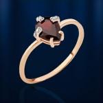 Золотое кольцо. Гранат & Фианит