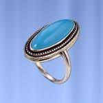 Кольцо с бирюзой Дыня