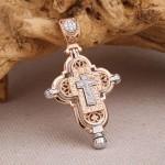 Ладанка Нательный крестик. Золото