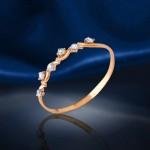 Кольцо Неделька с фианитами. Русское золото