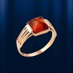 Печатка-Перстень на мизинец. Янтарь в золоте
