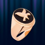 """Мужское кольцо из золота """"Орёл"""""""