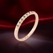 Кольцо золотое с изумрудами. Русское золото