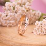 Золотое кольцо с фианитами. Русское золото