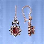 Серебряные серьги - подвески. Фианиты