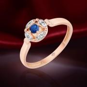 Сапфир & Бриллианты. Золотое кольцо