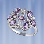 Кольцо из серебра. Русское серебро & фианиты