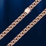 Золотая цепь браслет Бисмарк