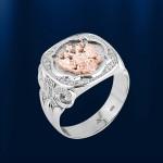 Перстень Печатка ОТЕЧЕСТВО белый