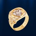 Mужской перстень ОТЕЧЕСТВО жёлтый
