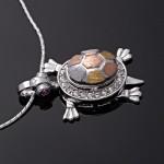 Кулон Черепашка на серебряной цепочке