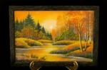 Картина из Камней Закат