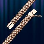 Золотая цепь, браслет Австрийская Панцирная