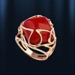 Кольцо с агатом. Русское золото
