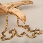 Серебряная литая цепочка и браслет
