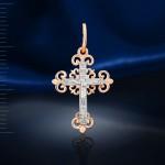 Нательный крестик золотой