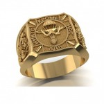 Кольцо мужское из золота ВДВ