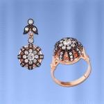 Кольцо & кулон - подвески c фианитами