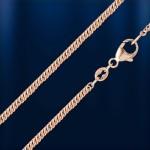 Серебряная цепочка Двойная панцирная позолоченная