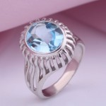 Кольцо Амплуа с топазом. Серебро
