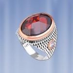 Перстень серебряный с гранатом