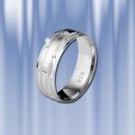Обручальное кольцо из серебра 925