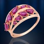 Корунд Рубин. Золотое кольцо