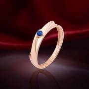 Сапфир. Золотое кольцо
