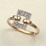 Кольцо золотое с бриллиантами.