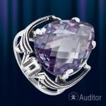 Серебрянное кольцо с аметистом