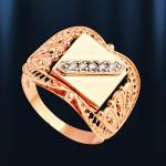 Золотой перстень мужской