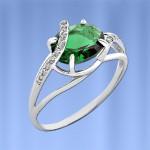Серебряное кольцо. Кварц & Фианит