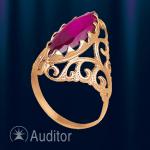 """Кольцо из золота 585 с рубином """"Маркиза"""""""