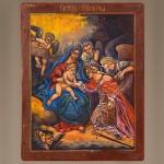 Икона Господь и Святая Екатерина