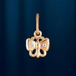 Бабочка - подвеска из русского золота 585°